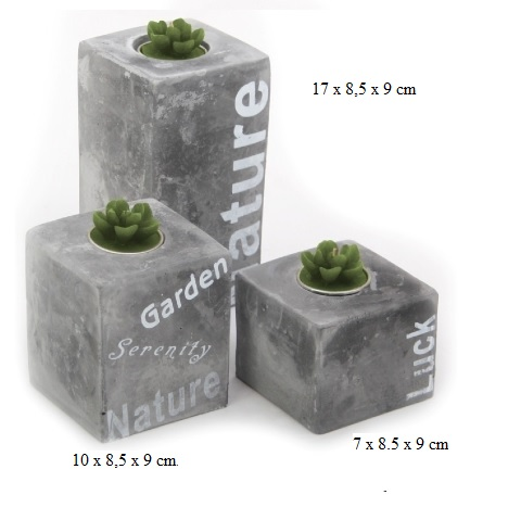 Stone candle set 3 pcs