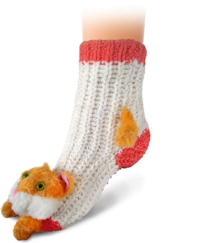 "Home 3D Socks ""CAT"" non-slip 31/34 35/38 6/ass."