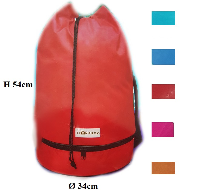 Sport bag with waterproof nylon a/b choice ass. colors