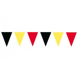 Bunting black, red, yellow 10 meter with 20 point flags