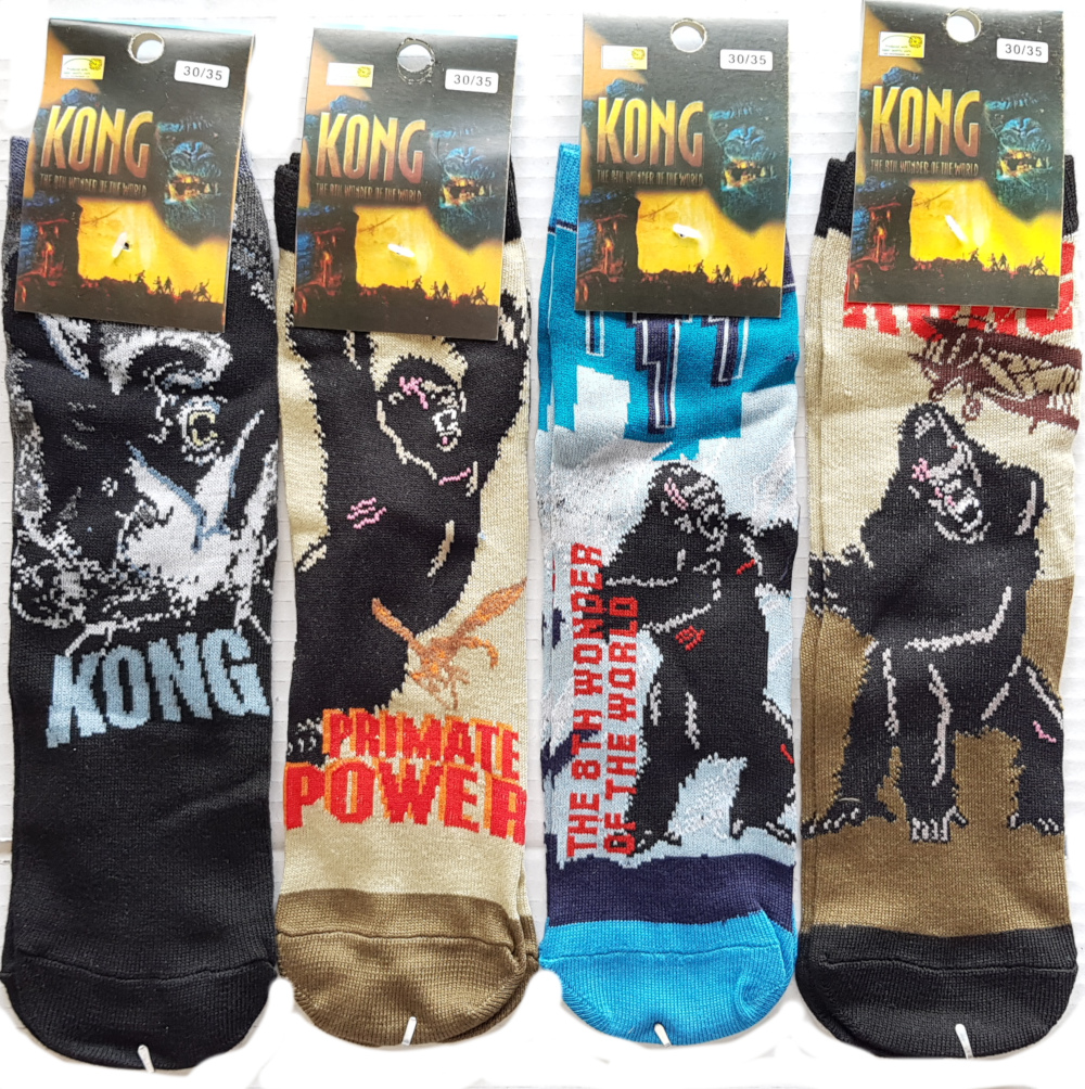King Kong licensed socks ass. size 30/35