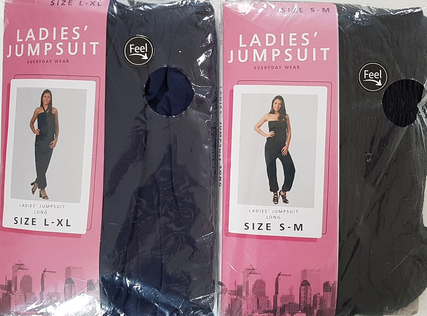 Ladies Jumpsuit long sizes s-xl