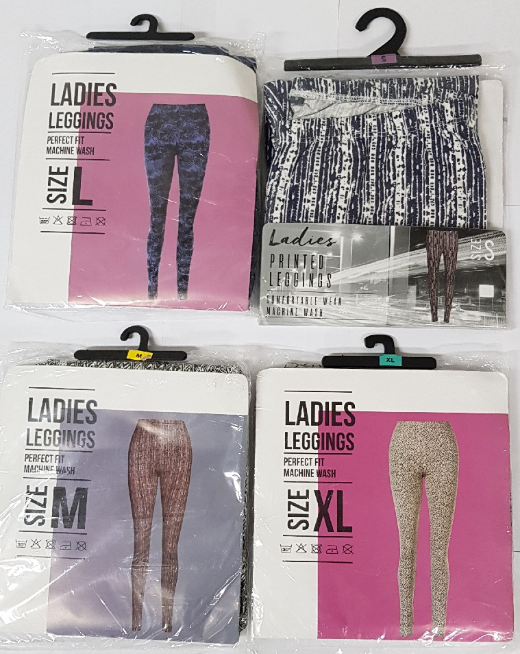 Dames legging met print sizes s/m/l/xl assorti