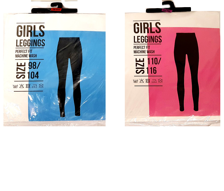 Girls legging sizes 98-152
