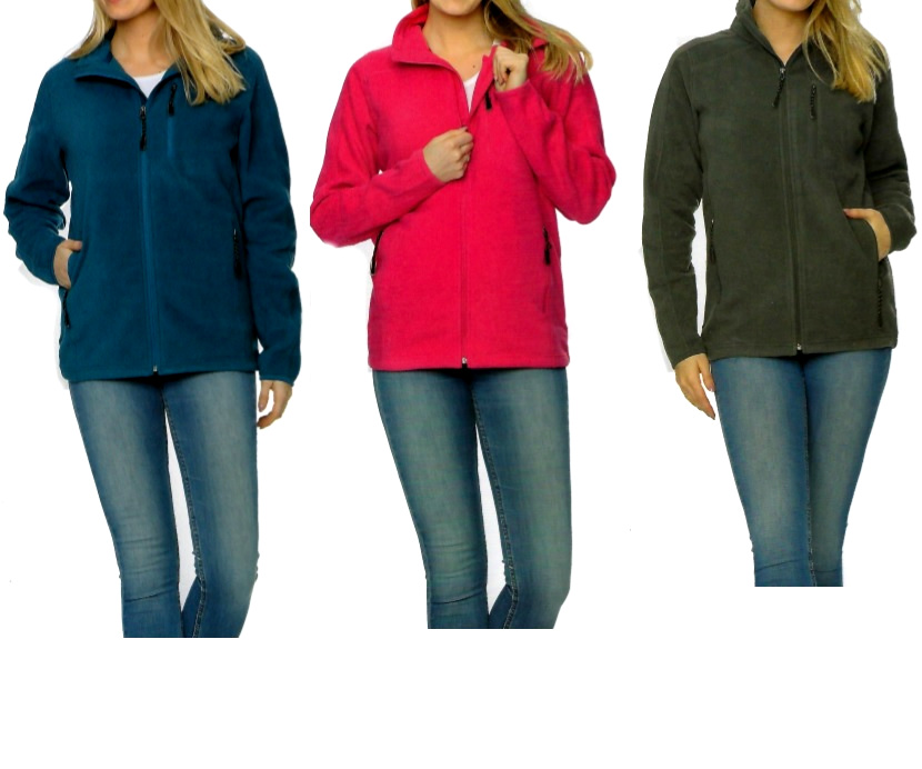 Dames fleece Jacket maten S-XL