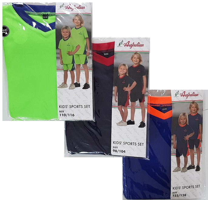 Australian kid's sport set sizes 98/104 - 122/128