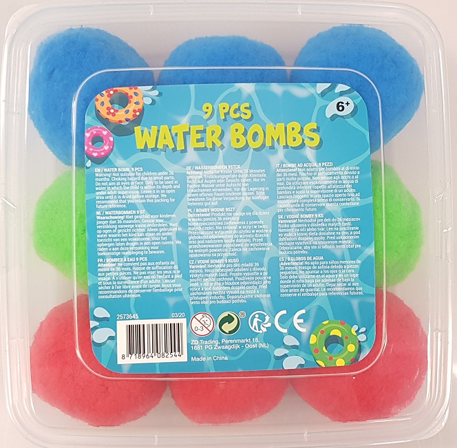 Water bombs 9 pieces in storage box