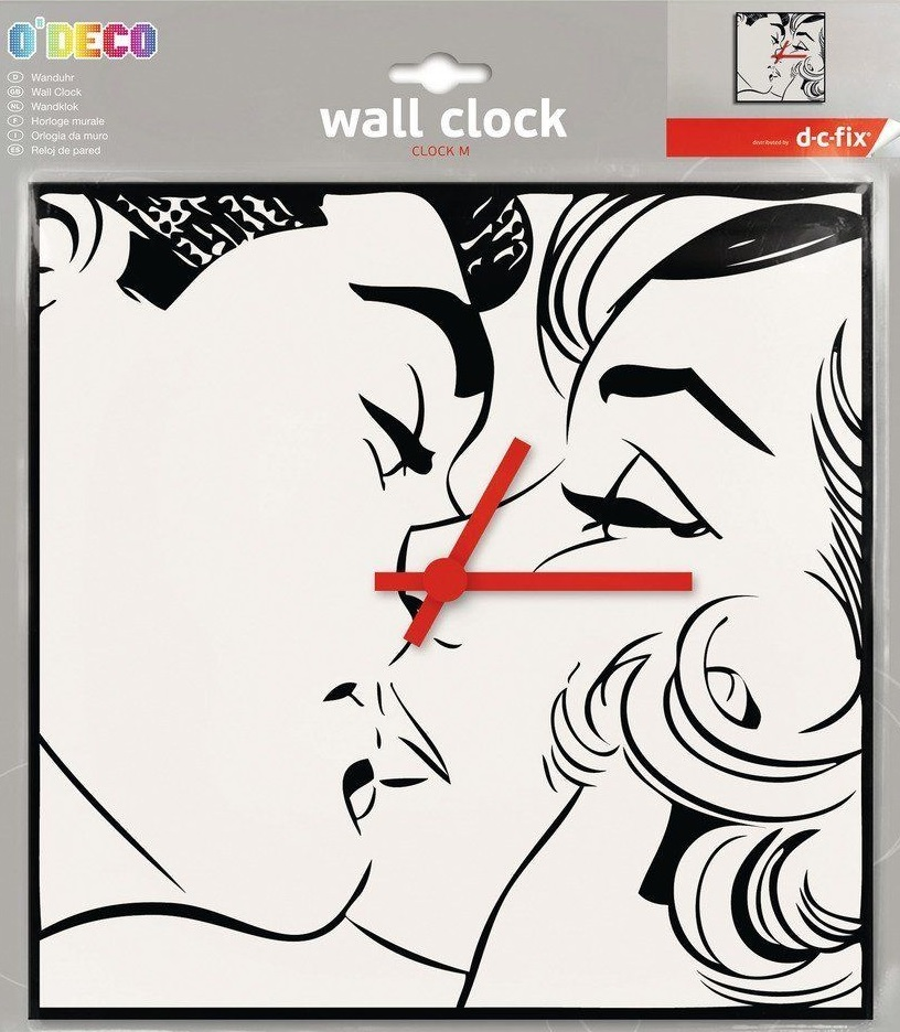 Wall Clock Kiss foam 27x27cm