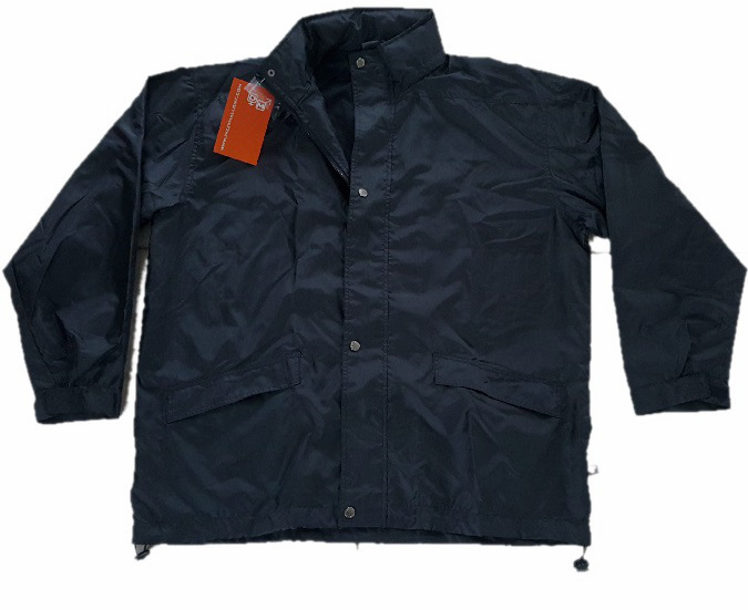 Wind and rain jacket with capuchon Black size xl/xxl