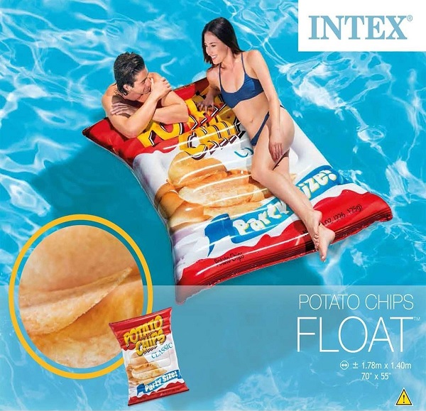 INTEX Potato Chips max Luchtbed 1,78m x 1,40m
