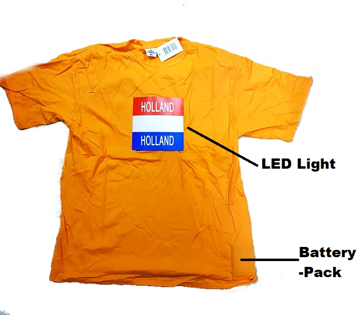 T-Shirt with LED Light size L/ XL/ XXL
