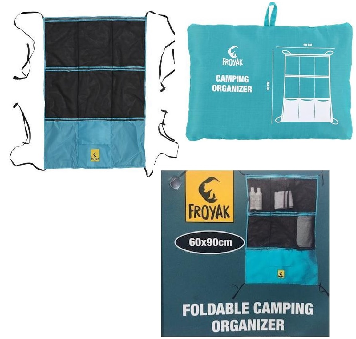 Foldable camping organizer 60x90cm