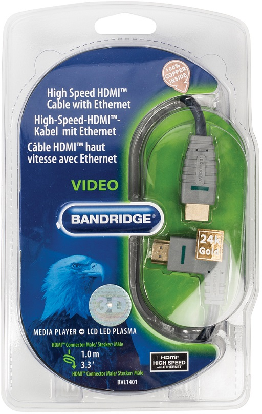 High Speed HDMI Cable with Ethernet 1.0m