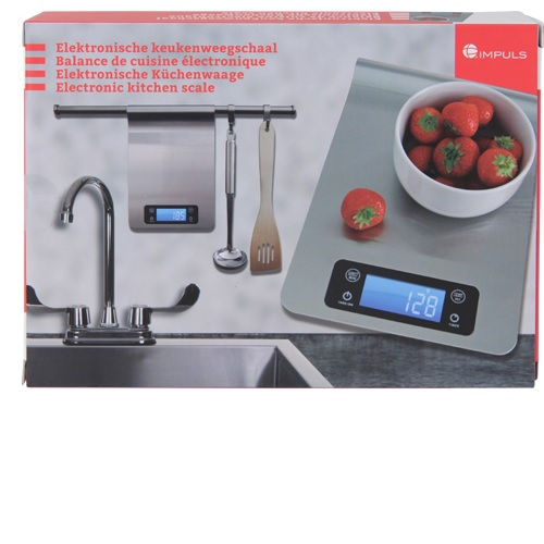 Electronic kitchen scale stainless steel
