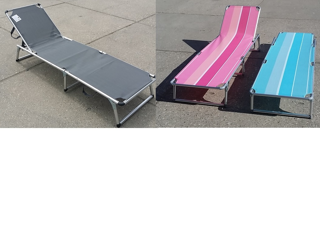 Sunbed aluminium folding ass. colors