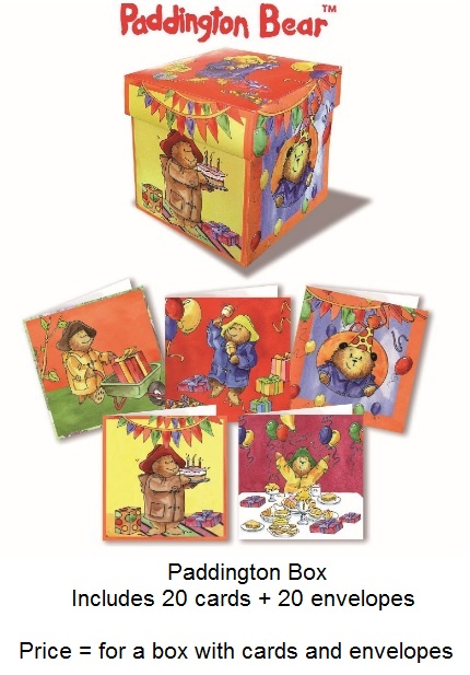 Bear Paddington cartes  20 cartes + 20 enveloppes