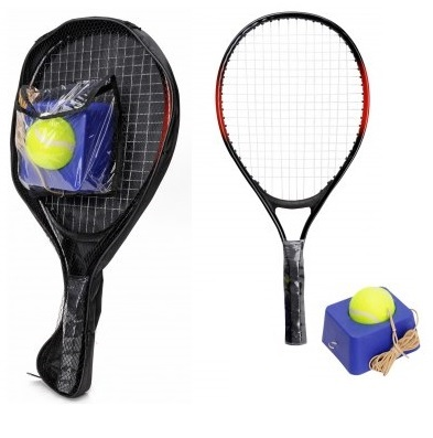 Tennis racket with tennis coach