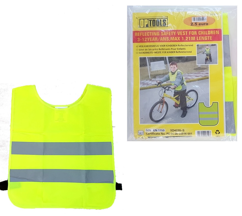 Safety vest kids 3 till 12 years