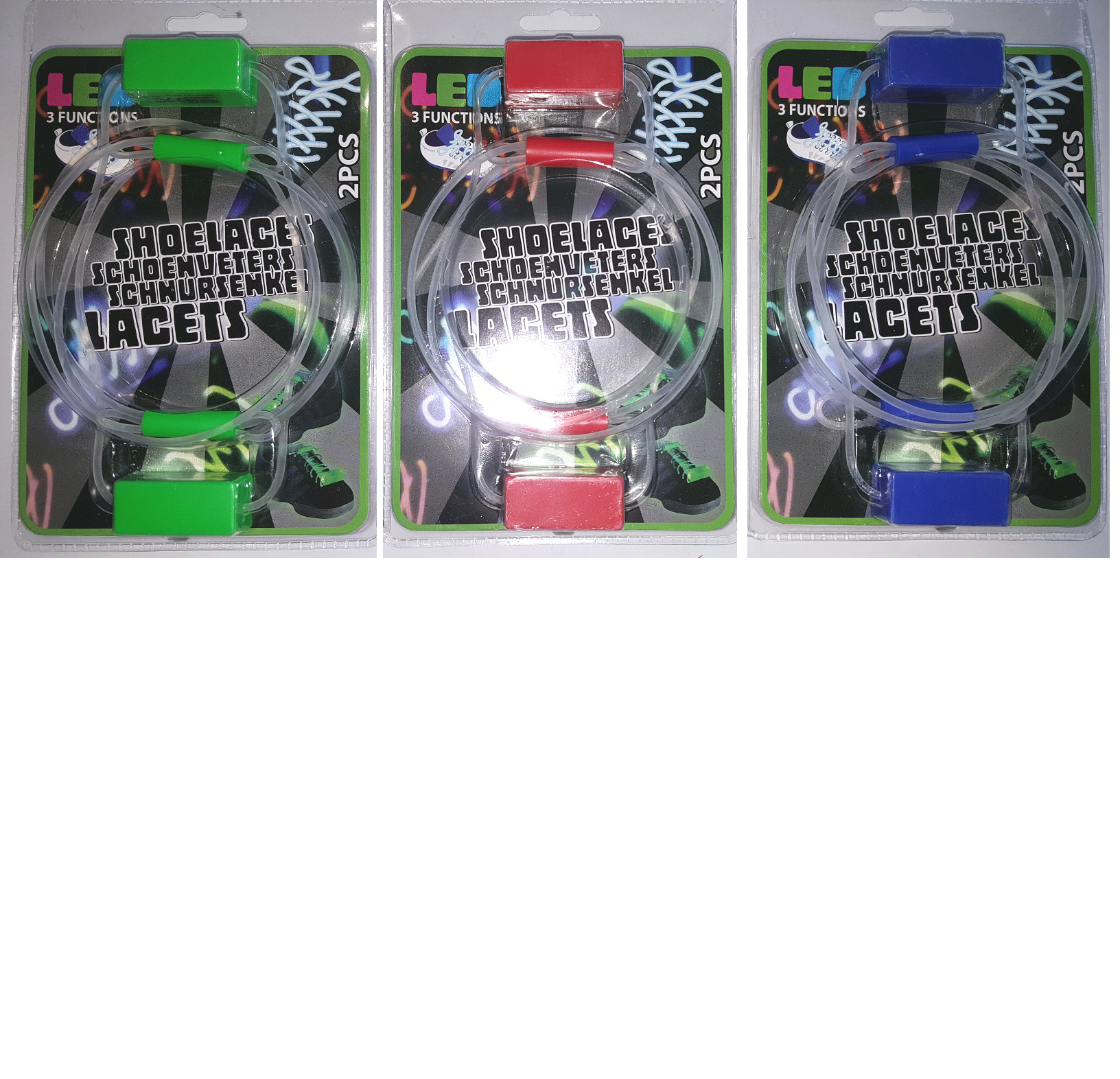 Shoelaces with Led 2 Pair